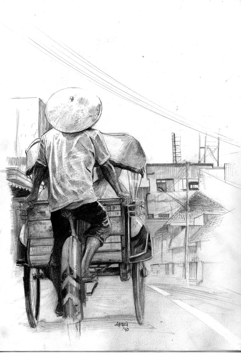 Ilustrasi Cerpen Tidak Saya Sudah Dijemput oleh Sungging Raga