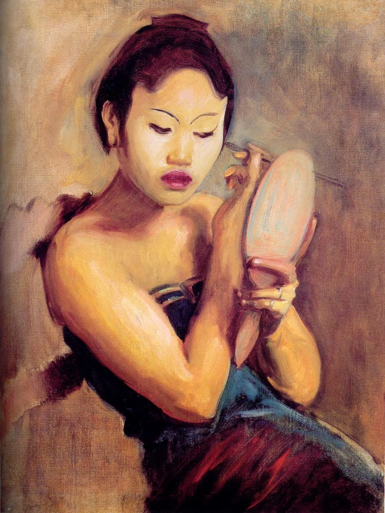 1889 A Javanese Girl at Her Toilet oil on canvas 64.8 x 53.3 cm Stevenson Scott Kaminer