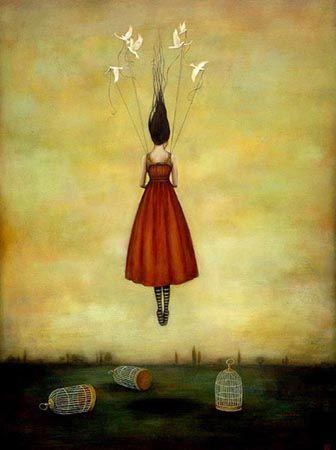 perempuan yang melayang