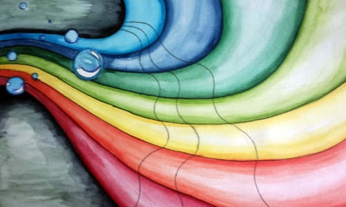 Ilustrasi cerpen Pelangi yang Jatuh di Sidareja karya Sungging Raga