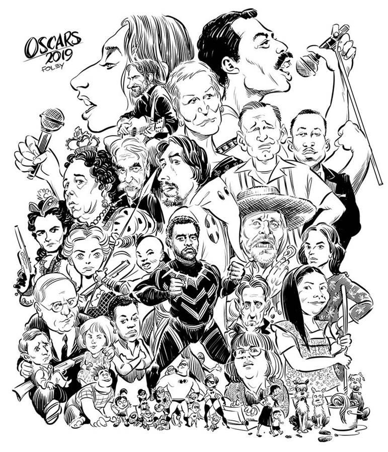 Oscar 2019 - 1 timfoleyillustration dot com